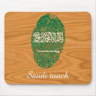 Saudi touch fingerprint flag mouse pad