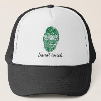 Saudi touch fingerprint flag trucker hat