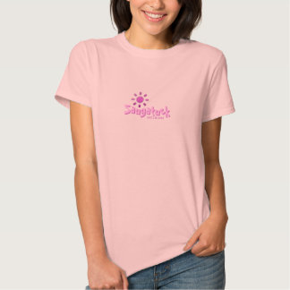 Saugatuck, Michigan - With Pink Sun Icon T-shirt