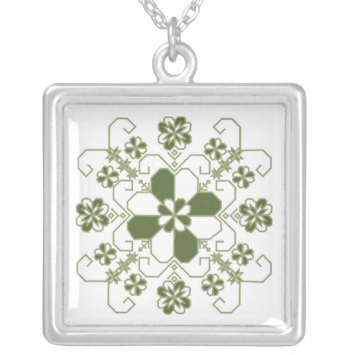 saules rota kaklam sudraba square pendant necklace