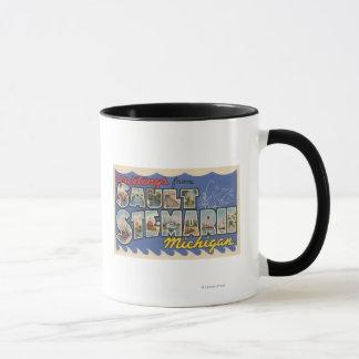 Sault Ste. Marie, Michigan - Large Letter Mug