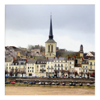Saumur River Bank Scene Acrylic Wall Art