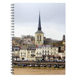 Saumur River Bank Scene Photo Notebook
