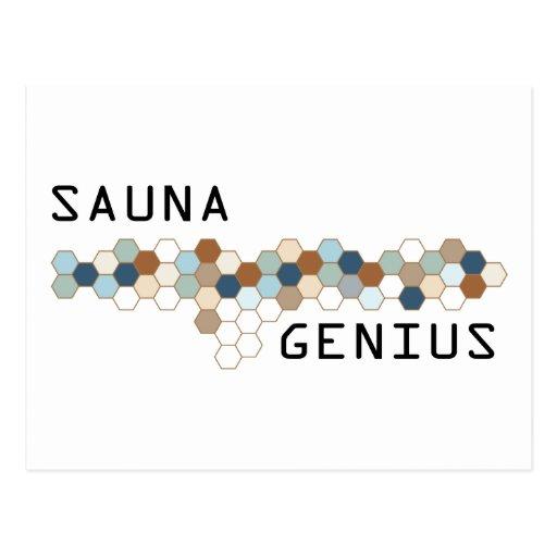 Sauna Genius Post Card