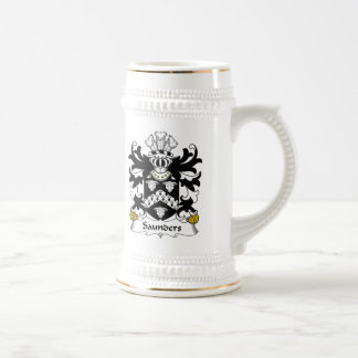 Saunders Family Crest Beer Stein