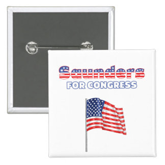 Saunders for Congress Patriotic American Flag Pins