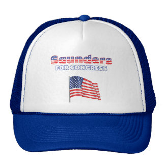 Saunders for Congress Patriotic American Flag Trucker Hat