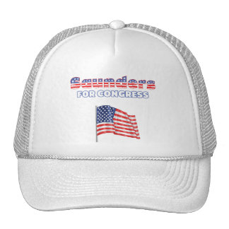 Saunders for Congress Patriotic American Flag Hats