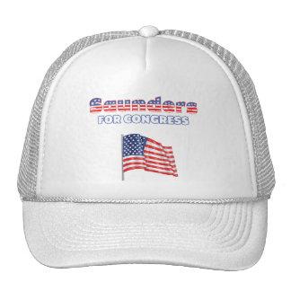 Saunders for Congress Patriotic American Flag Cap