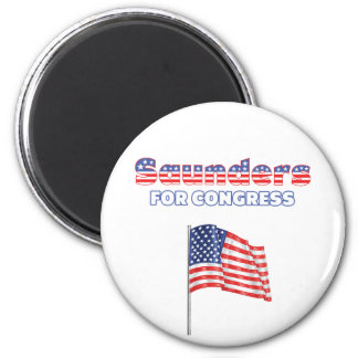 Saunders for Congress Patriotic American Flag Refrigerator Magnet