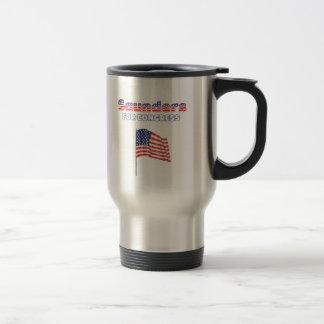 Saunders for Congress Patriotic American Flag Stainless Steel Travel Mug