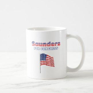 Saunders for Congress Patriotic American Flag Basic White Mug