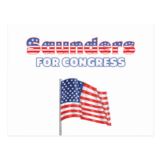 Saunders for Congress Patriotic American Flag Postcard