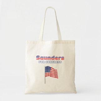 Saunders for Congress Patriotic American Flag Budget Tote Bag