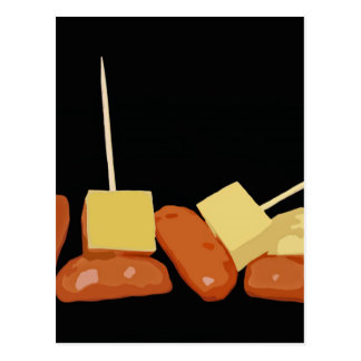 Sausage and Cheese Postcard