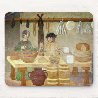 Sausage and Cheese Sellers Mouse Mat