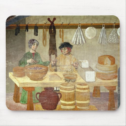 Sausage and Cheese Sellers Mousepads