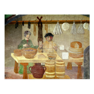 Sausage and Cheese Sellers Postcard