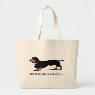 Sausage Dog Dachshund Humor Hiking Duck Tote Bag