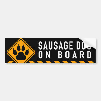 Sausage Dog On Board Bumper Sticker