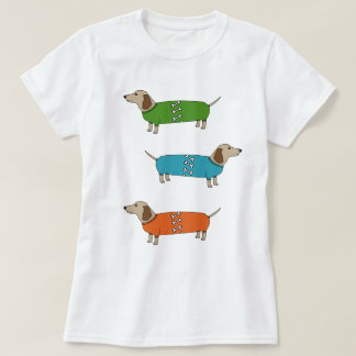 Sausage Dogs Dachshund in Jumpers Bone Top T-Shirt