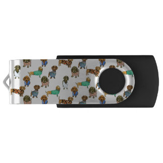 Sausage dogs / dachshunds with jumpers USB flash drive