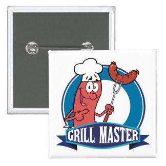 Sausage Grill Master 15 Cm Square Badge