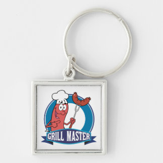 Sausage Grill Master Key Chains