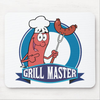 Sausage Grill Master Mouse Pad