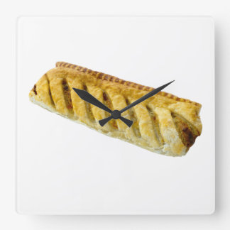 Sausage Roll Square Wall Clock