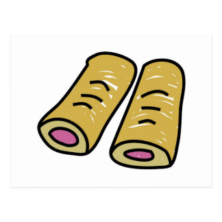 Sausage Rolls Postcard