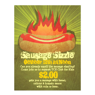 Sausage Sizzle Party 21.5 Cm X 28 Cm Flyer