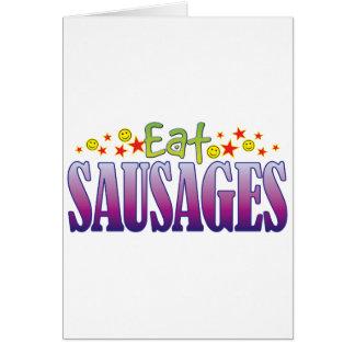 Sausages Eat Greeting Card