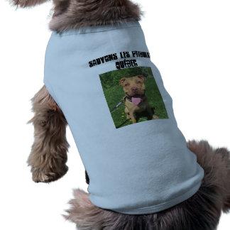 Sauvons les Pitbulls Quebec Camisole pour chiens Sleeveless Dog Shirt
