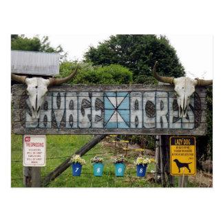 Savage Acres Postcard