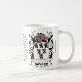 Savage Family Coat of Arms Mug