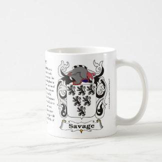 Savage Family Coat of Arms Mug