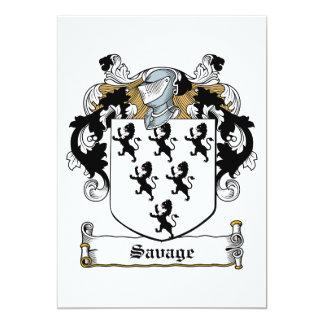 Savage Family Crest 13 Cm X 18 Cm Invitation Card