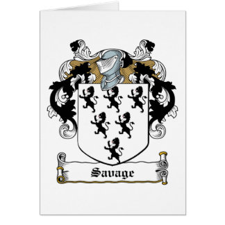 Savage Family Crest Cards