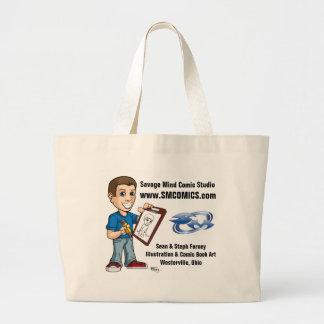 Savage Mind Comic Studio Large Tote Bag