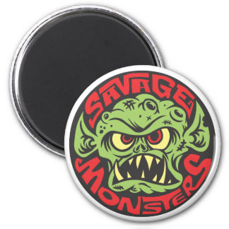 Savage Monsters Logo 6 Cm Round Magnet