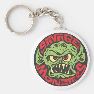 Savage Monsters Logo Basic Round Button Key Ring