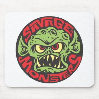Savage Monsters Logo Mouse Pad