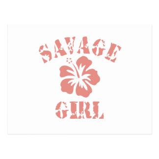 Savage Pink Girl Postcard