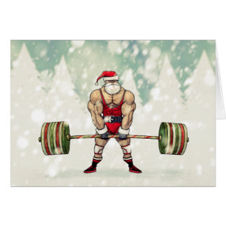 Savage Santa Claus Greeting Card