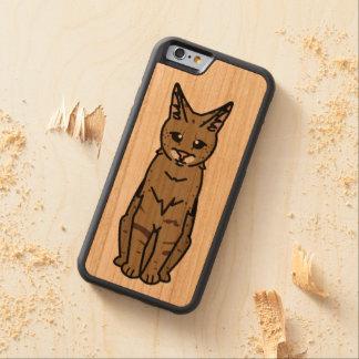 Savannah Cat Cartoon Carved Cherry iPhone 6 Bumper Case