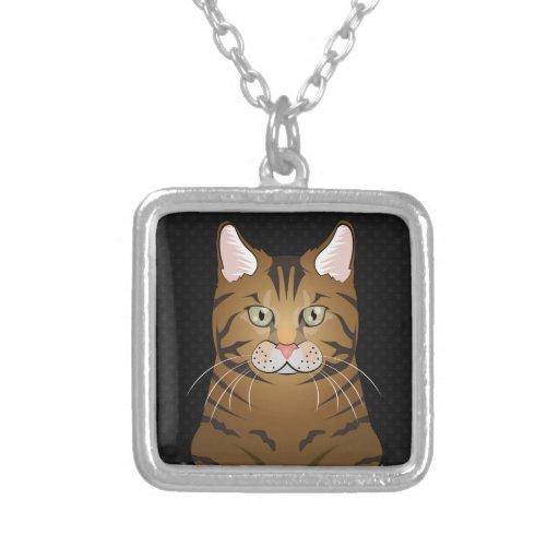 Savannah Cat Cartoon Paws Necklace