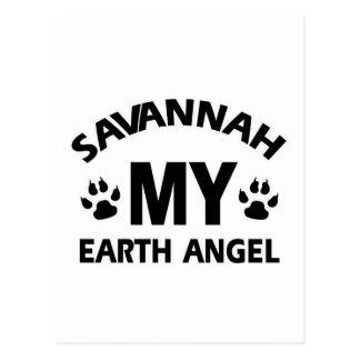 savannah cat design postcards