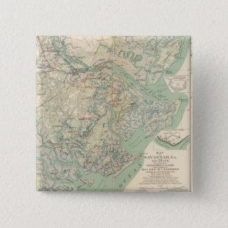 Savannah, Ga and vicinity 15 Cm Square Badge