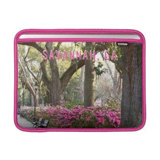 Savannah GA in Spring   Forsyth Park Pink Azaleas Sleeve For MacBook Air